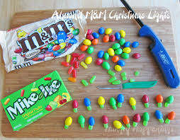 Candy Christmas Lights Quick And Easy M M And Mike And Ike Christmas Lights