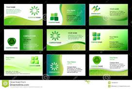 Business Card Template Design Stock Vector Illustration Of