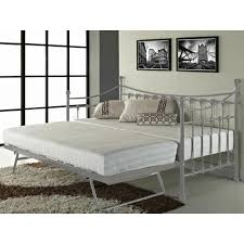 daybed with trundle metal grey frame