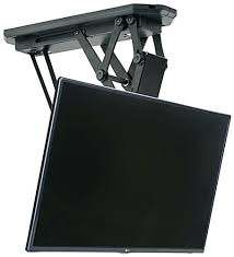 A Motorized Ceiling Flip Down Tv Mount From  Fantastic Drop Remote