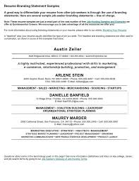 Importance Of A Resume Resume With Branding Statement Importance