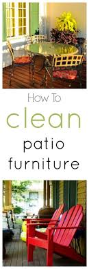 how to clean patio furniture of all
