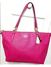 AVA Leather Shopper Tote Bag Handbag. Coach