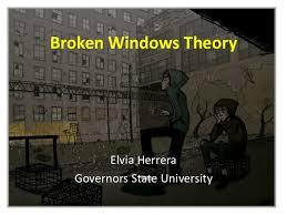 broken windows theory broken windows theoryelvia herreragovernors state university the broken windows theory