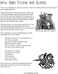 Runes Unit Study Little Pagan Acorns