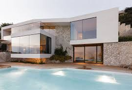 Mediterranean House with Large Glass Windows  #architecture, #house, #home,