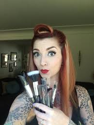 pin up pion makeup brush set
