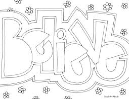 Small Picture Word Coloring pages Doodle Art Alley