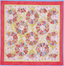 Quilt Inspiration: Free pattern day ! Dresden Plates & Dresden Plate quilt, 57 x 75