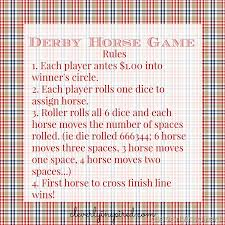 Wooden Horse Race Game Rules DIY Horse Racing Game Derby Party Game Cleverly Inspired 50