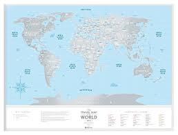 Географическая <b>карта 1DEA.me Travel Map</b> Silver World