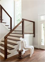 Stairs, Terrific Banister Railing Indoor Stair Railings Brown Woods With :  outstanding banister railing ...