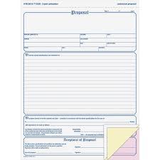 Adams Contractor Proposal Form 3 Part Carbonless 8 1 2 X 11 7 16 50 Forms Walmart Com