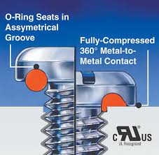 o ring chemistry. the embedded o-ring provides 360-degree, metal-to-metal contact. o ring chemistry