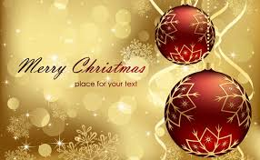 Red Gold Christmas Background