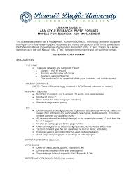 018 Samples Of Apa Style Research Papers Paper Format