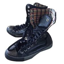 converse boots boots leather black ref 106096