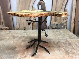 metal end table legs 21 inch tall custom tree hand made accentend table base accent wood