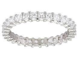 bella luce r 1 96ctw princess diamond simulant rhodium