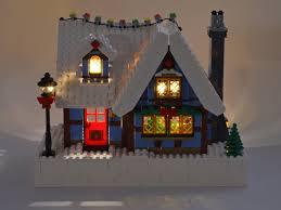 Lego Winter Village Lights Adding Lights To The Lego Winter Village Cottage Set
