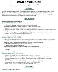 Elementary Teacher Resume Template Dockery Michellecom