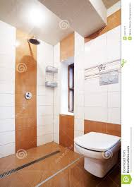 Modern Brown And White Bathroom Stock Image - Image: 24477417