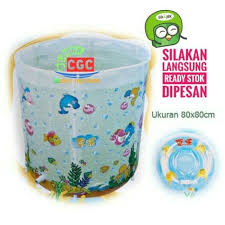 baby spa summer sea kolam bath tub langsung pakai free neck ring sni