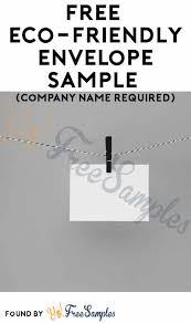 Free Eco Friendly Envelope Sample Company Name Required