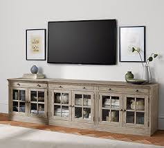 tv rooms furniture. livingston large tv stand pottery barn tv rooms furniture u