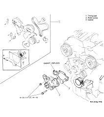 Fig 18 water pump assembly 3 0l engine