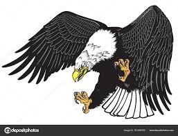Orel Letu Bílá Vedl Americký Pták Tattoo Styl Vektorové Ilustrace