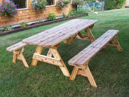furniture wonderful picnic table and bench chair timber foot camping with scenic benches wood detached unattached
