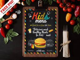 Kids Food Menu Card Template Psd Psdfreebies Com