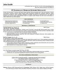 Desktop Support Sample Resume Customer Support Engineer Sample