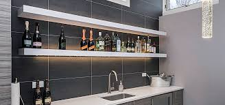 kitchen under shelf lighting imposing intended for with regard to shelves idea 2