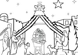 Nativity Coloring Pages Printable Nativity Coloring Pages Nativity
