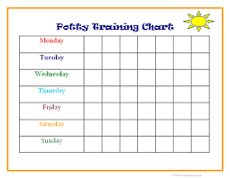 daily potty training chart training chart