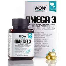 Wow Omega-3 Fish Oil 1000 Mg Triple Strength 550 Mg Epa 350 Mg - 60 Capsules - Healium.io - 360° B2B Healthcare