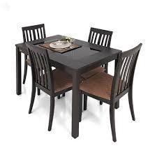 dining table set. Zuari Dining Table Set Four Seater Wenge Finish \u2013 Piru