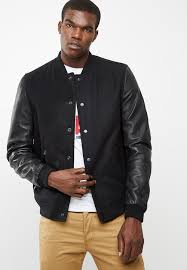 superdry varsity wool leather er