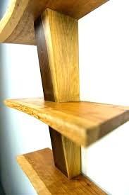 dark cherry wood floating shelves shelf live edge stingray