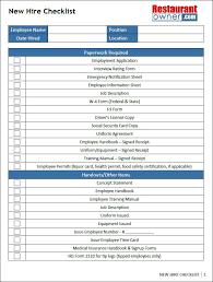 12 New Hire Checklist Template Free Download