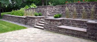 Backyard Retaining Wall Designs Delectable Modular Block Landscape Retaining Walls Landscape Design