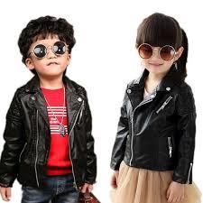 kids jacket boys 2018 new spring baby boy jackets solid pu leather toddler boys coat turn
