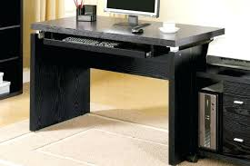 black glass top desk with drawers computer corner metal chrome and