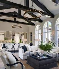 Vaulted ceiling wood beams Rustic Interior Designs Living Room Black Wood Beams Vaulted Ceilings Next Luxury Top 70 Best Vaulted Ceiling Ideas High Vertical Space Designs