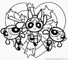 Small Picture Powerpuff Girls Coloring Pages To Print asobooinfo