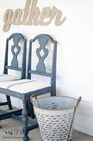 dining room chair makeover diy with glaze milk paint and grain sack makeover project challenge 4 sew a