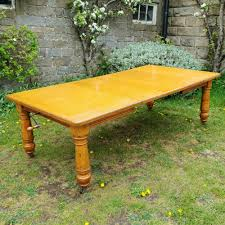 Edwardian Large 79x 4 Golden Oak Extending Dining Table C1910