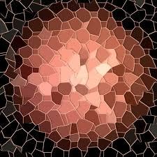 mosaic wallpaper black rose gold